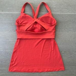 lululemon athletica Tops - Lululemon Wrap It Up Tank Red Orange Alarming Fall